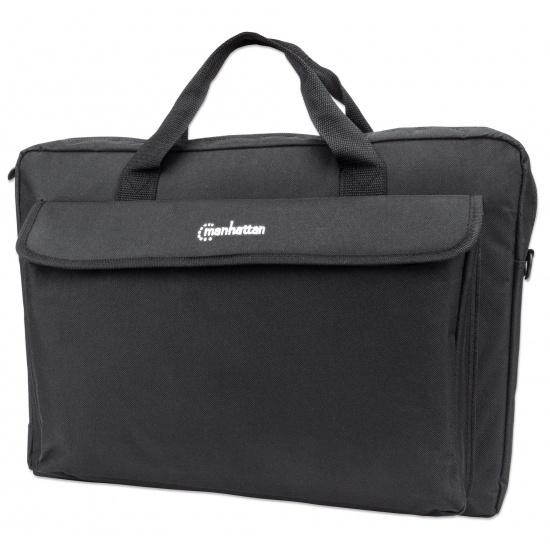 Manhattan London Laptop Bag 17.3-inch, Top Loader, Shoulder Strap, Black Image