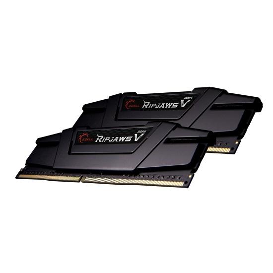 16GB G.Skill DDR4 4800MHz PC4-38400 Ripjaws V Black CL17 Dual Channel Kit (2x8GB) 1.60V Image