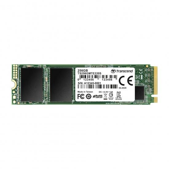 256GB Transcend NVMe PCIe Gen3x4 M.2 2280 3D TLC SSD 220S Image
