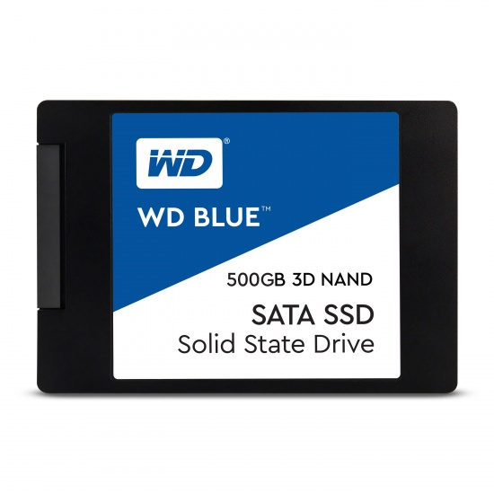 500GB WD Blue SATA III 2.5-inch SSD Solid State Disk 3D Nand Image