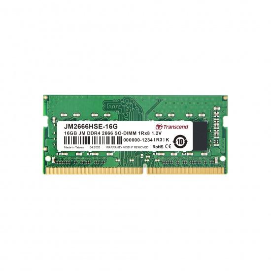 16GB Transcend JetRam DDR4 2666Mhz PC4-21300 CL19 SO-DIMM Laptop Module 260 Pins Image