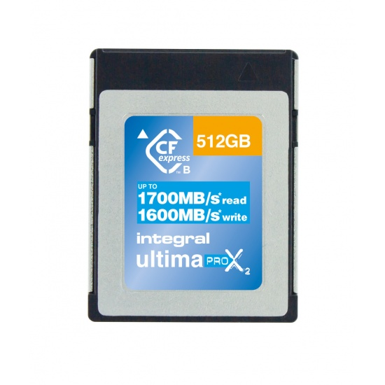 512GB Integral Ultima Pro X2 CFexpress Cinematic Memory Card 11322X Speed 1700/1600 MB/sec Read/Writ Image