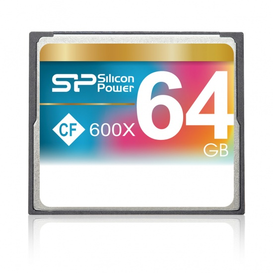 64GB Silicon Power CF Compact Flash 600X Speed Memory Card Image