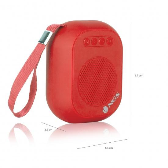 NGS 3W Wireless BT Speaker - Roller Dice Red Image
