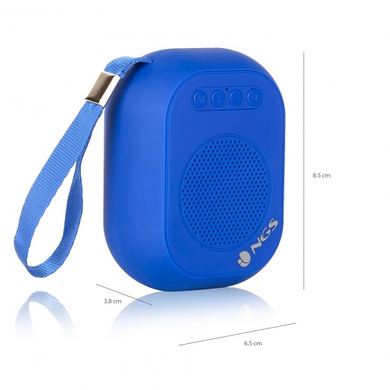 NGS 3W Wireles BT Speaker - Roller Dice Blue Image