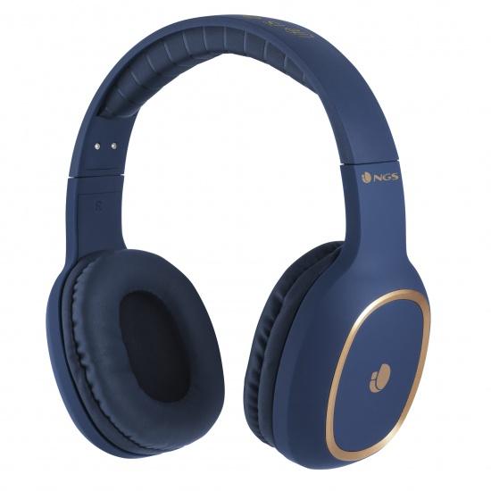 NGS Artica Envy Wireless BT Headphones - Blue Image