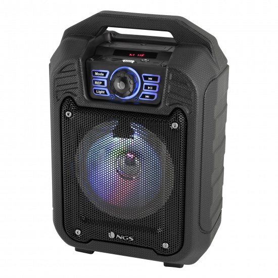 NGS Roller Tin 20W BT Speaker with FM Radio, USB Port, Aux Input and MicroSD Slot Image
