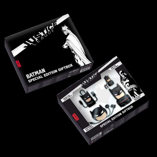 DC Batman Movie Gift Box - Bluetooth Speaker, 16GB USB, Earphones and USB cable Image
