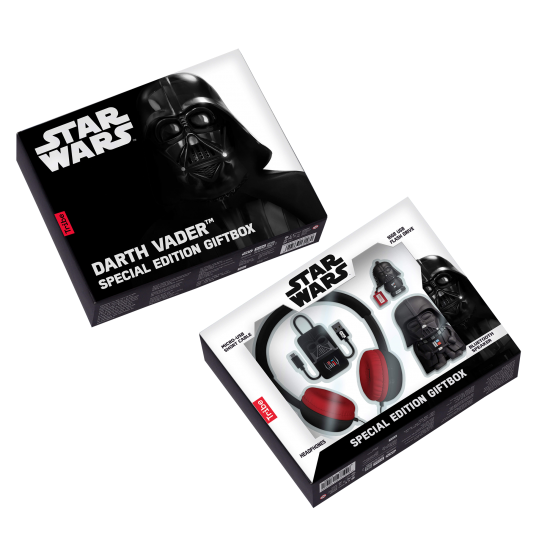 Star Wars Darth Vader Gift Box - Bluetooth Speaker, 16GB USB, Headphones and USB cable Image