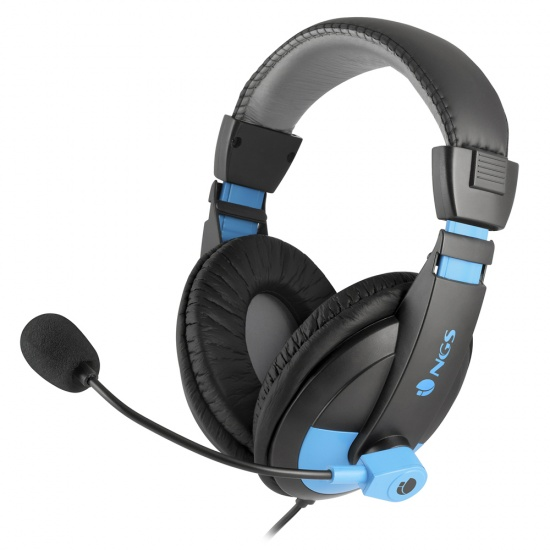 NGS MSX9 Pro Blue Gaming Stereo Headset, Black/Blue Image