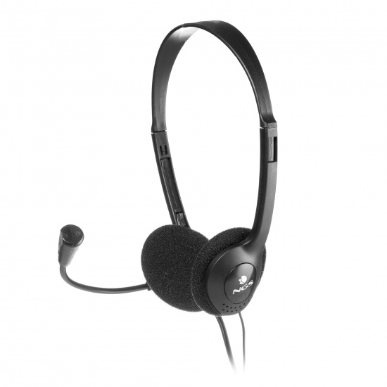 NGS MS103 Headset with Microphone and Volume Control, Black Image