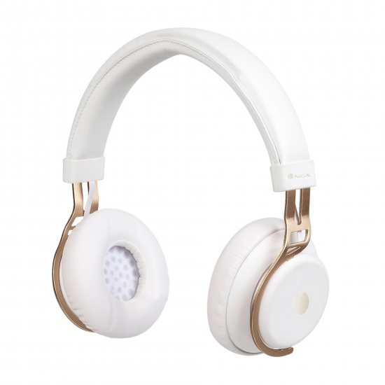 NGS Artica Lust Wireless BT Headphones - White Image