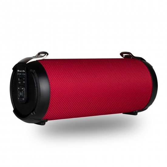 NGS 20W Portable Wireless TWS & BT Speaker with USB/SD/AUX IN - Roller Tempo, Red Image