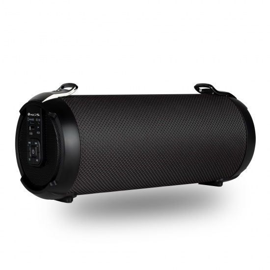 NGS 20W Portable Wireless TWS & BT Speaker with USB/SD/AUX IN - Roller Tempo, Black Image