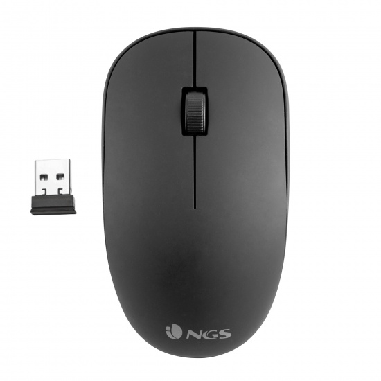 NGS 2.4GhZ Wireless Optical Mouse, Easy Alpha - Black Image