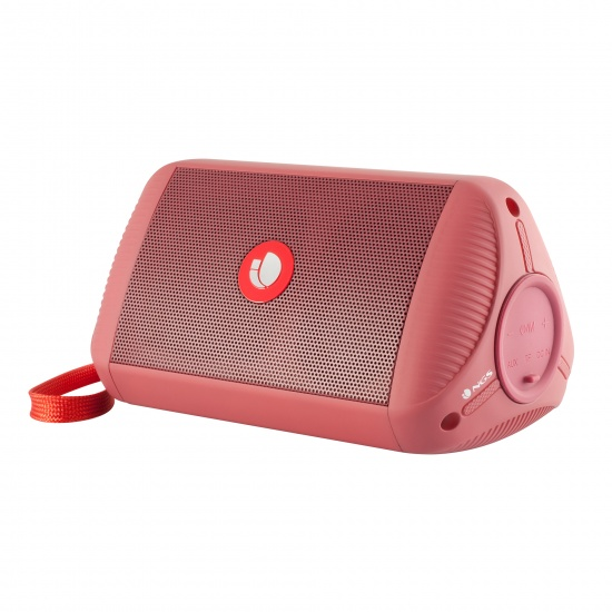 NGS Roller Ride 10W Portable Wireless BT and TWS Speaker - Red Image