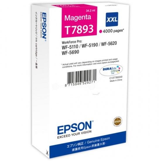 Epson T7893 Magenta Ink Cartridge Image
