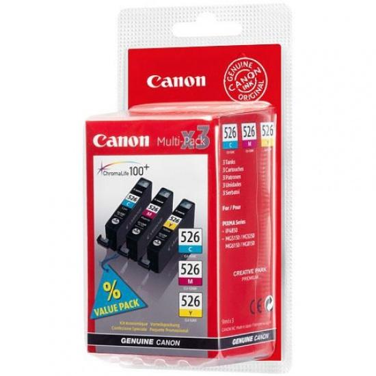 Canon CLI-526 Cyan, Magenta, Yellow Ink Cartridge Image
