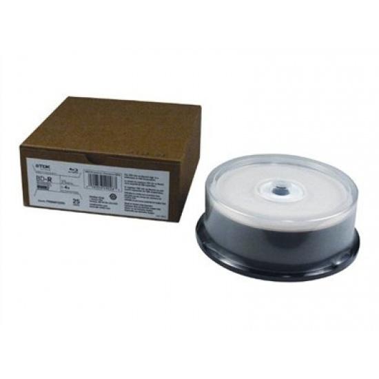 TDK Blu-Ray 25-Pack 4X Single Layer 25GB Write Once White Thermal Hub Printable Image