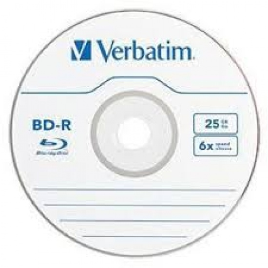 Verbatim Blu-Ray BD-R 97457 25GB 6X 25-Pack Spindle Box Image