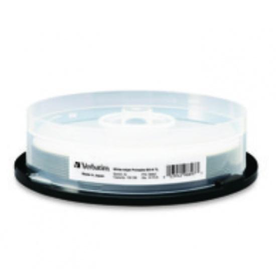 Verbatim Blu-Ray BD-R XL 98897 100GB 4X White Inkjet Printable 10-Pack Spindle Image
