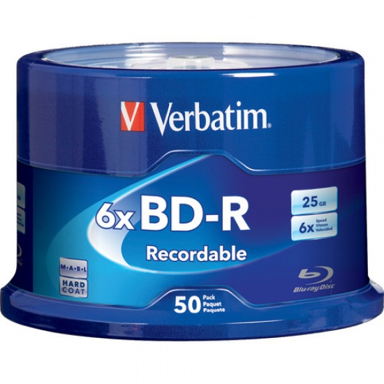 Verbatim Blu-Ray BD-R 98397 25GB 6X 50-Pack Spindle Image