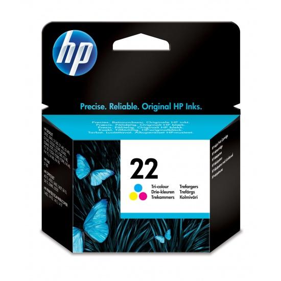 HP 22 Cyan, Magenta, Yellow Ink Cartridge Image