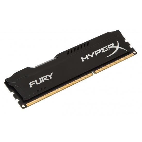4GB Kingston HyperX Fury DDR3 PC3-12800 1600MHz CL10 Single Memory Module - Black Image