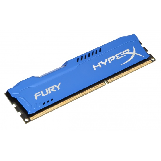 4GB Kingston HyperX Fury PC3-12800 DDR3 1600MHz CL10 Memory Module - Blue Image