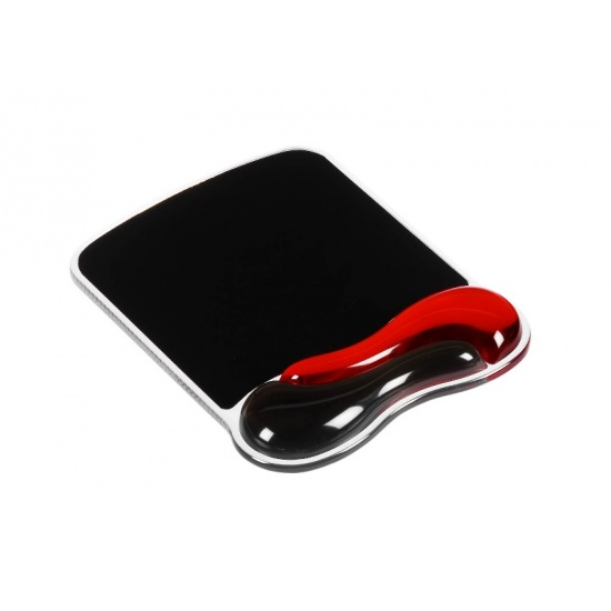 Kensington Duo Gel Mouse Pad - Black, Red Image