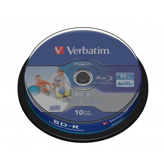 Verbatim Blue Ray BD-R SL Datalife 43804 25GB 6X 10-pack Jewel Case Image