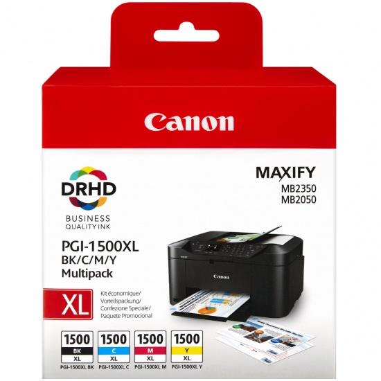 Canon PGI-1500 XL Black,Cyan,Magenta,Yellow Ink Cartridge Image