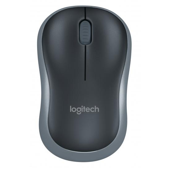 Logitech M185 Optical Mouse - Black, Grey Image