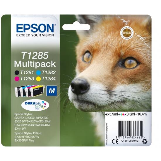 Epson T1285 Black, Cyan, Magenta, Yellow Ink Cartridge Image