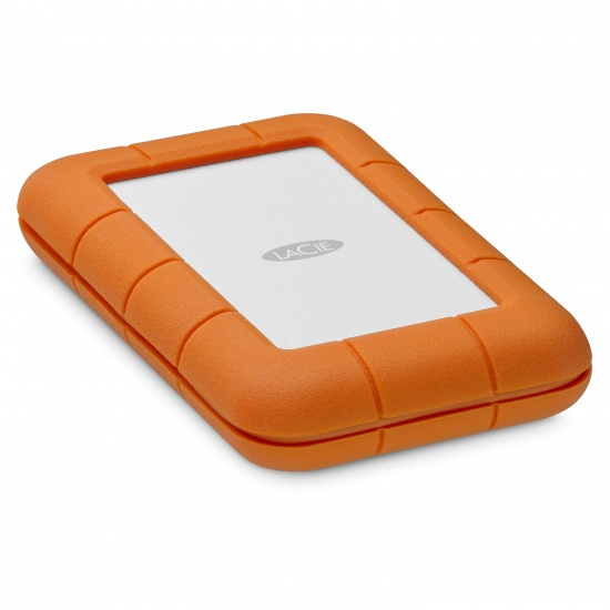 2TB Seagate LaCie Rugged Portable Hard Drive - Orange Image