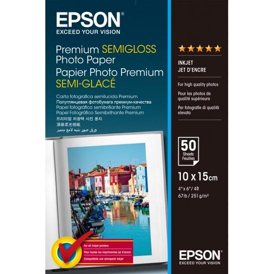 Epson Premium 4x6 Semi-gloss Photo Paper - 50 sheets Image