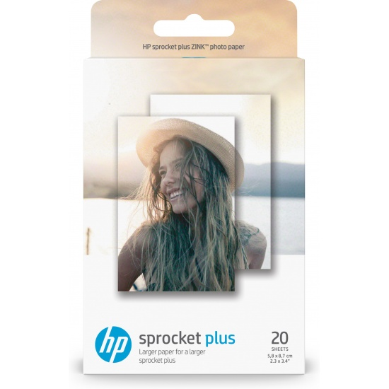 HP Sprocket Plus 2x3 White Glossy Photo Paper  - 20 Sheets Image