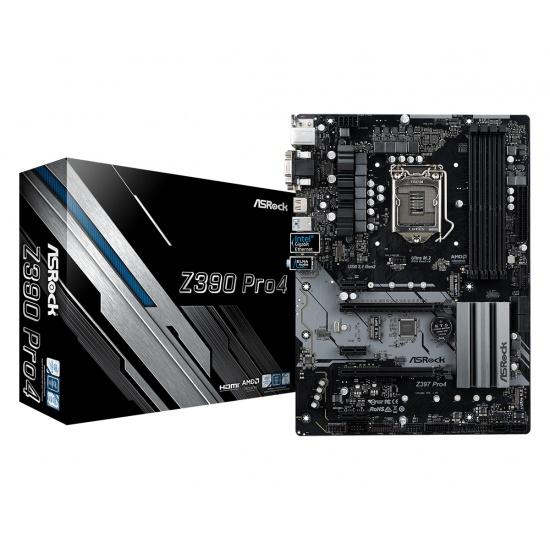 Asrock Z390 Pro 4 Intel 1151 ATX DDR4-SDRAM Motherboard Image