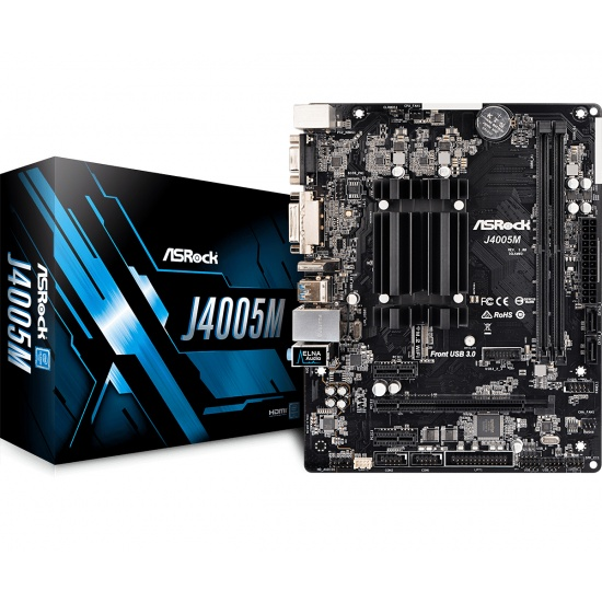 Asrock Gemini Lake Intel Dual Core J4005 Micro ATX DDR4-SDRAM Motherboard Image