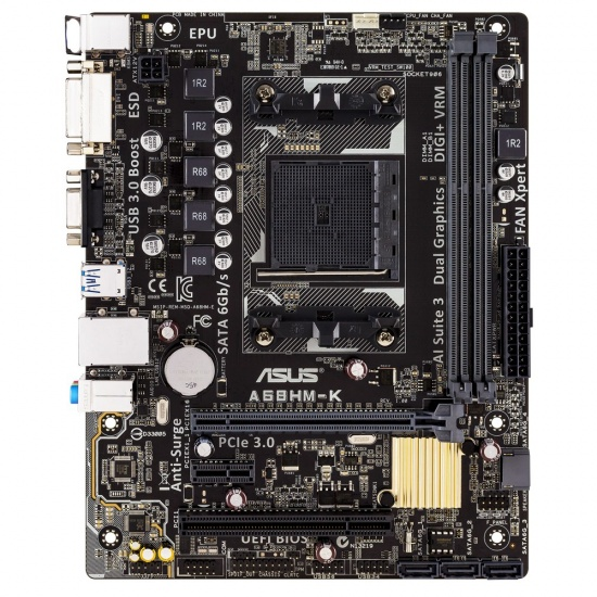 Asus A68HM-K AMD A68H Micro ATX DDR3-SDRAM Motherboard Image