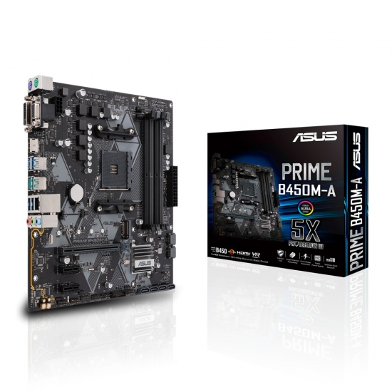 Asus Prime AMD B450M-A Micro ATX DDR4-SDRAM Motherboard Image