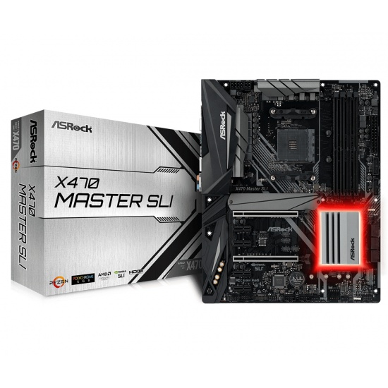 Asrock Master AMD X470 ATX DDR4-SDRAM Motherboard Image