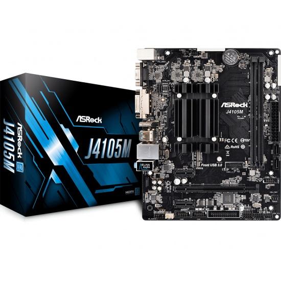 Asrock Gemini Lake Intel J4105 Micro ATX DDR4-SDRAM Motherboard Image