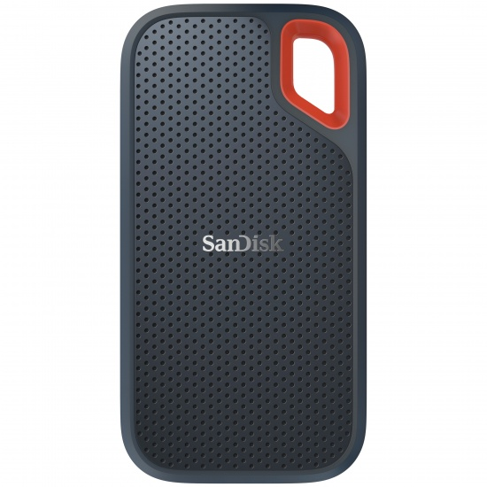 250GB SanDisk Extreme External USB3.1 Portable Solid State Drive - Grey, Orange Image