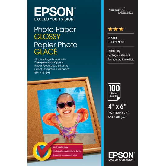 Epson Glossy 4x6 Photo Paper - 100 Sheets Image