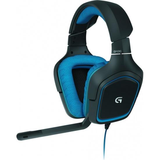 Logitech G430 Surround Sound Gaming Headset - Blue, Black Image