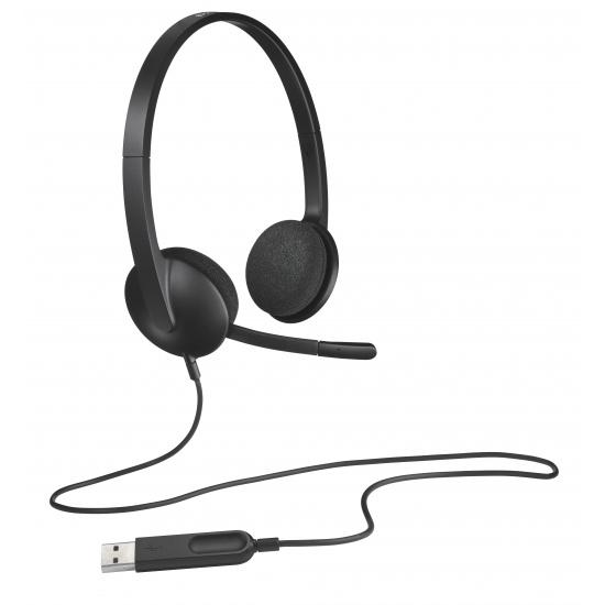 Logitech H340 Binaural USB3.0 Wired Headset - Black Image