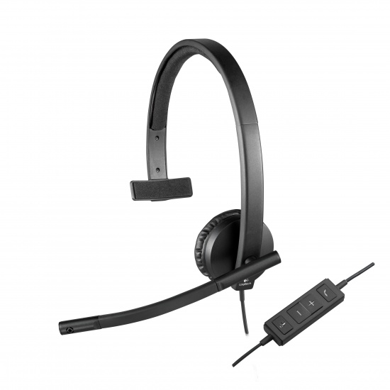 Logitech H570e Monaural Headset - Black Image