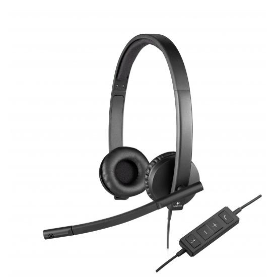 Logitech H570e Binaural Headset - Black Image
