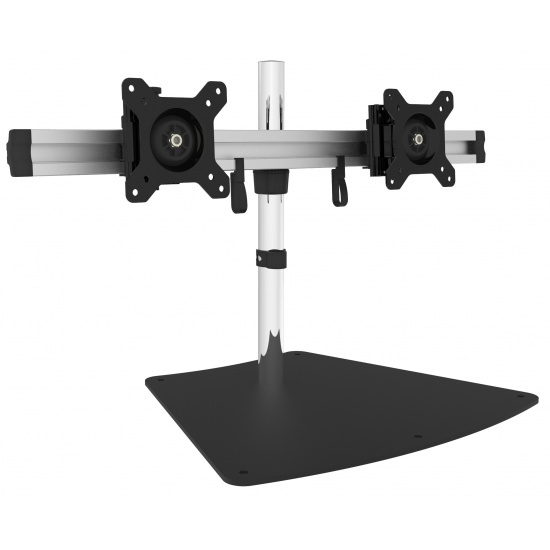 SIIG CE-MT2011-S1 Dual Monitor Desk Stand - Up to 27-inch - Black,Grey Image